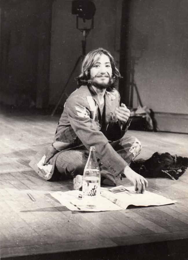 En répétition dans le rôle du Père Sifflard, dans MONSIEUR MOCKINPOTT de Peter Weiss | DR