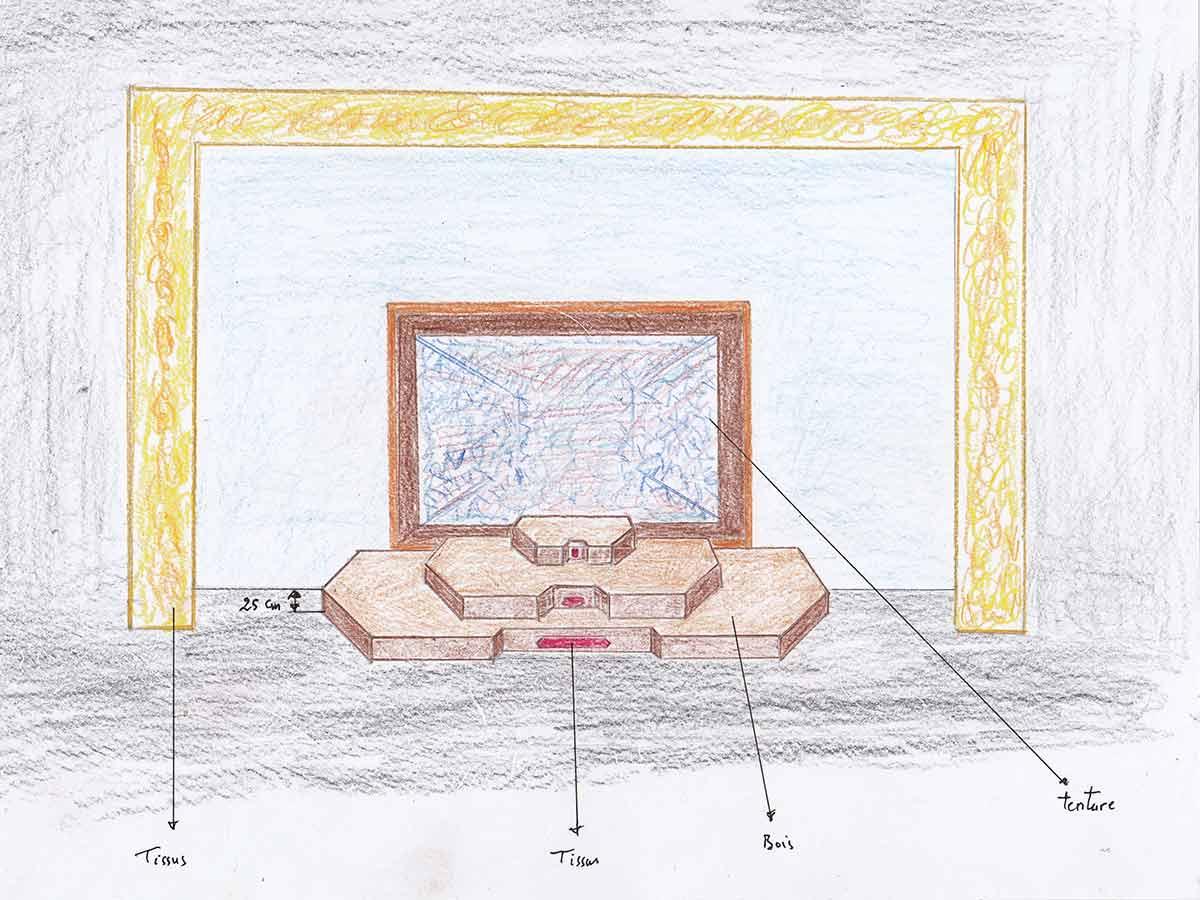 Maquette du décor de la Trilogie Ferdowsi (2012-2014) | DR
