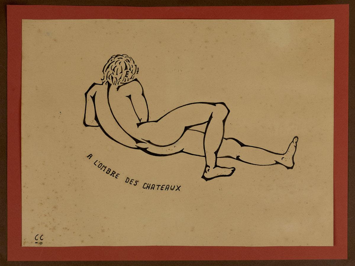 À L'OMBRE DES CHÂTEAUX | 1976, encre, 37 x 28 cm | Photo Erwan Masson