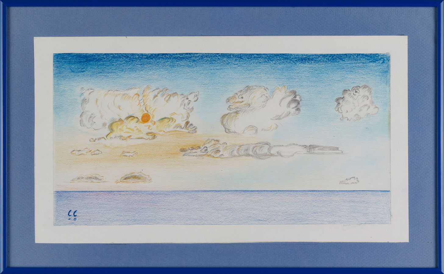 COUCHANT À PIANA 4 | 1990, crayons de couleurs, 36 x 28,5 cm | Photo Erwan Masson